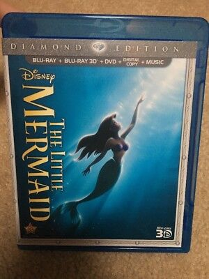 The Little Mermaid (Blu-ray/3D/DVD, 2013, 3 Disc Set, Diamond Edition) See Descr