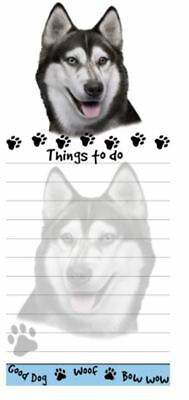 SIBERIAN HUSKY DOG DIECUT LIST PAD NOTES NOTEPAD Magnetic Magnet Refrigerator
