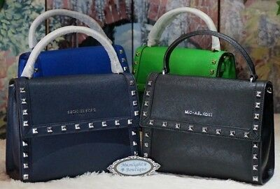 91891f8fd19d07 MICHAEL KORS DILLION STUD MED TH Satchel Crossbody Bag VARIOUS COL Leather  $368