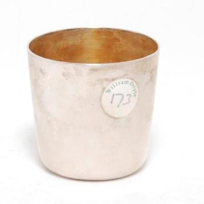 Antique English Sterling Silver Cup With Gold Vermeil Interior, W. Doyle Label