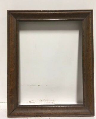 "Antique Arts and Crafts Mission Fumed OAK Picture Frame Fits 6 1/4"" x 8 1/4"""