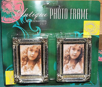 "New Stock Lot of 12 Antique Photo Frames 2x3"" set of two (reproduction) dozen"
