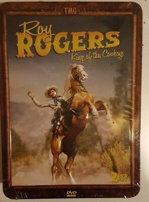 Roy Rogers King Of The Cowboys 2 DVD Collector's Edition 3D Tin Case Brand New