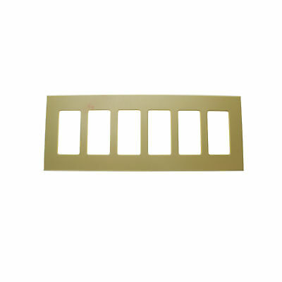 Lightolier Controls Fb6Si Multi-Gang, 6-Gang, Faceplate Wall Plate, Ivory
