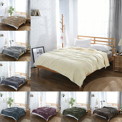 Super Soft Pure Colored Flannel Blanket Bed Sofa Throw Blanket Air Condition