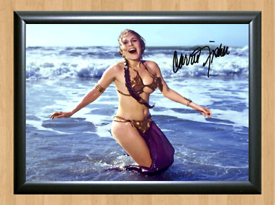 Carrie Fisher Princess Leia Star Wars Autographed A4 Photo Poster Memorabilia