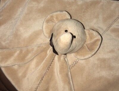 Just One You Carters Brown Elephant Rattle Security Blanket Lovey Precious First