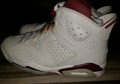 5a17f2d8be32 AIR JORDAN 6 Retro  Maroons  DS 384664-116 Off White New Maroon ...