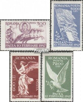 Romania 1024-1027 mint never hinged mnh 1947 Peace
