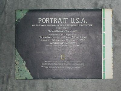 National Geographic MAP JULY 1976 Portrait U.S.A. The United States Satellite