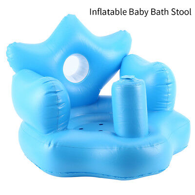 1X Baby Inflatable Sofa Toddlers Sit Me Up Stool Training Seat Dining Bath Chair