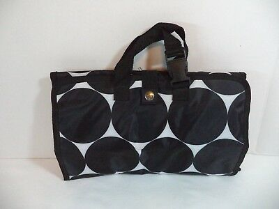 Thirty One Fold-up Organizing Utility Tote Bag, Zip Pockets, Polka-dots, NWOT