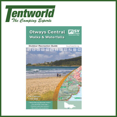 Spacial Vision Otways Central Walks and Waterfalls Recreation Guide Map
