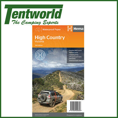 Hema High Country Victoria Map Trail Guide Edition 9