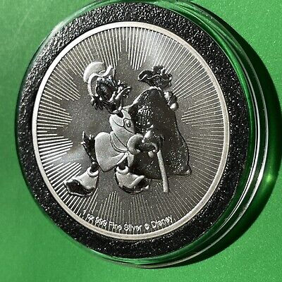 Disney Scrooge McDuck Collectible Coin 1 Troy Oz .999 Fine Silver Round Medal