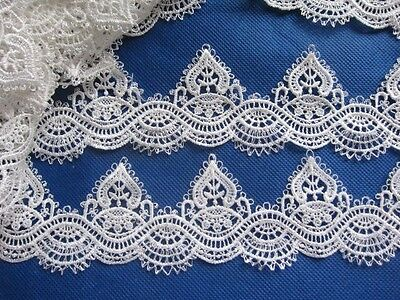 5Y Lace Edge Trim Ribbon For Wedding Bridal Dress Embroidered DIY Sewing Craft
