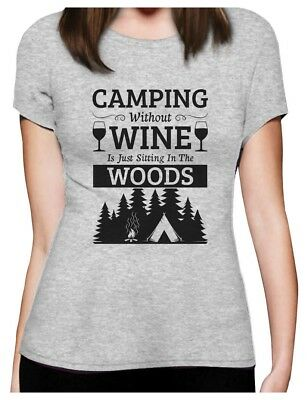 2f4a42c32a48 WOMENS HAPPY CAMPER Shirt Funny Camping Shirts Cool Vintage Tees ...