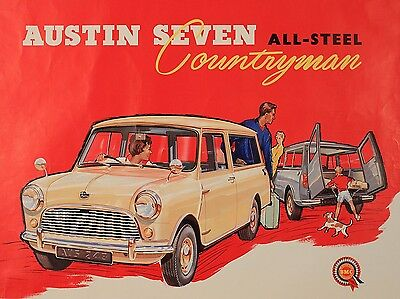 Austin 7 , Retro metal Aluminium Sign Vintage Garage shed Man Cave wall
