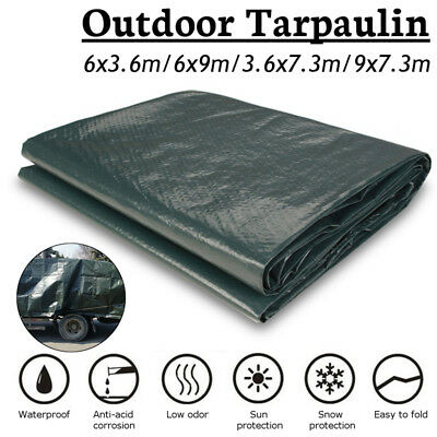 80GM Tarp Poly Tarpaulin Canopy Tent Shelter Sheet Waterproof Car Boats Cover