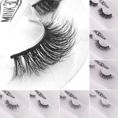 3D Lashes Mink Natural Thick False Fake Eyelashes Eye Lashes Makeup Extensions