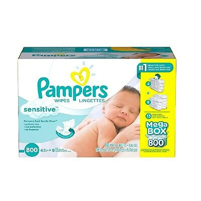 Pampers Sensitive Baby Wipes 800 ct.