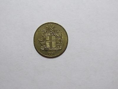 Old Iceland Coin - 1957 1 Krona - Circulated
