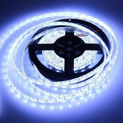 1x5m Flexible Bright LED Strip Lights 12V Waterproof 5050 SMD Cool White 300 LED