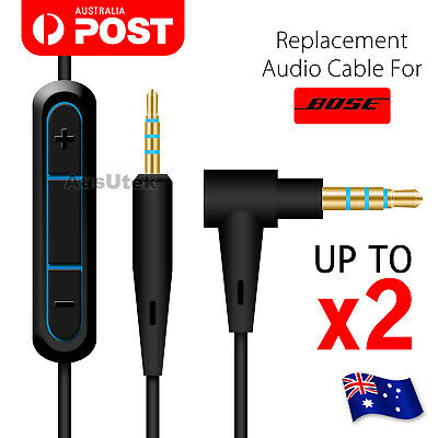 2.5mm to 3.5mm Remote Mic AUX Audio Cord Headphone Connect Cable For Bose 25 35
