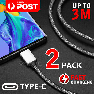 Fast Charging Cable USB 3.1 Type C USB-C Cord For Huawei Samsung S9 S8 Note 9 8