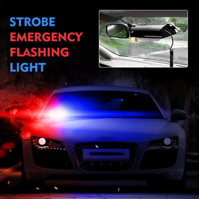 8LED Blue&Red Car Truck Police Strobe 4Sucker Flashing light Dash Emergency Lamp