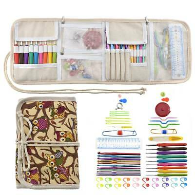64pcs Crochet Hooks Set Knitting Needles Sets Sewing Tools Grip + Storage Bag