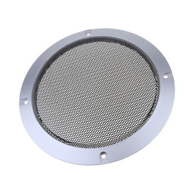 6.5inch Speaker Cover Metal Mesh Grille Protection Decorative Circle Silver