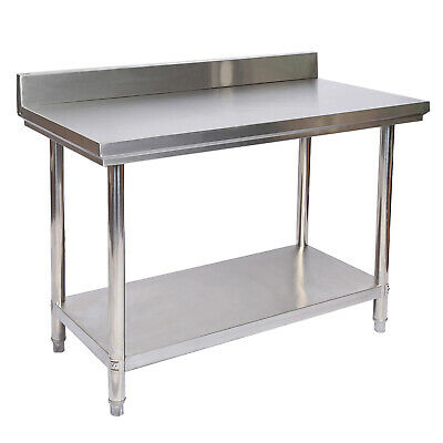 Stainless Steel Working Table with Back Panel Workbench