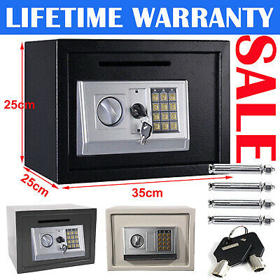 Safe Box Large Mini High Security Electronic Digital Steel Home Cash Safety Box