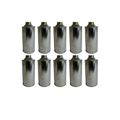10 x 1 Litre Conical Plain Tinplate Bottle Solvents Paints Chemical Storage