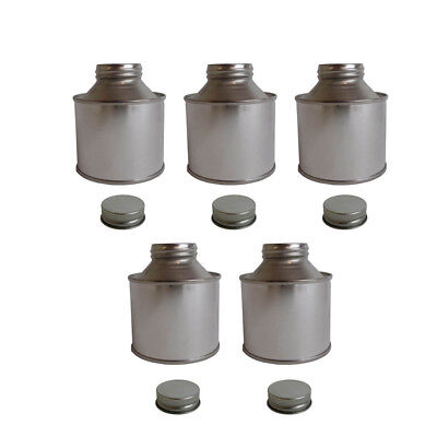 5x 250 ML Tin Bottle Storage Solvent Based Paints Lubricants Oils Adhesives