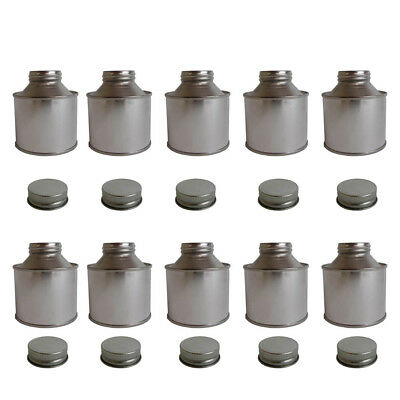 10 x 250 ML Tin Bottle Storage Solvent Based Paints Lubricants Oils Adhesives