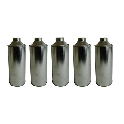 5 x 1 Litre Conical Plain Tinplate Bottle Solvents Paints Chemical Storage