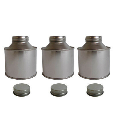 3 x 250 ML Tin Bottle Storage Solvent Based Paints Lubricants Oils Adhesives
