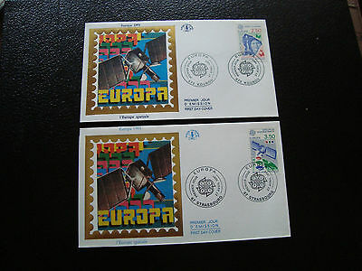 FRANCE - 2 envelopes 1st day 27/41991 (europa) (cy47) french