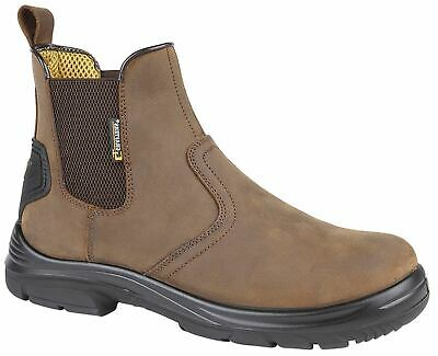 Mens Ankle Work Boots Wide EEE Fit Water Repellent Safety Dealer Chelsea Shoes