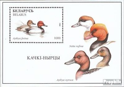 Belarus block12 mint never hinged mnh 1996 Birds