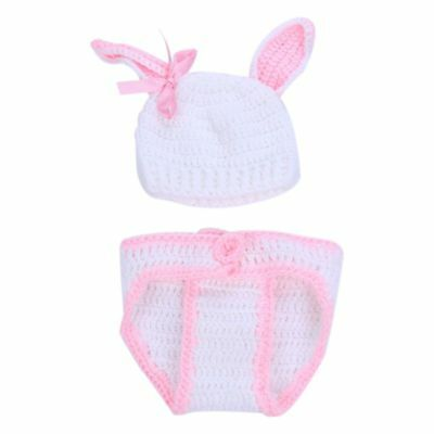 Newborn Boy Girls Crochet Knitted Outfits Costume Photography Photo Props K8K4