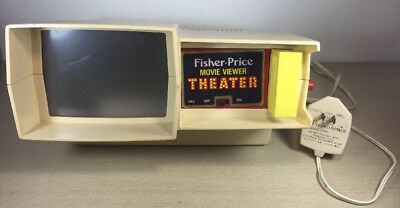 Vintage Fisher Price Movie Viewer Theater 1977-85 with 1 cartridge Rescuer Works
