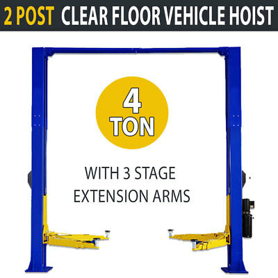New 4 Ton Clear Floor 2 Post Vehicle Hoist Commercial Car Vehicle Lift