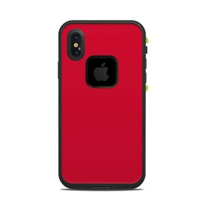 Skin for LifeProof FRE iPhone X - Solid Red - Sticker Decal