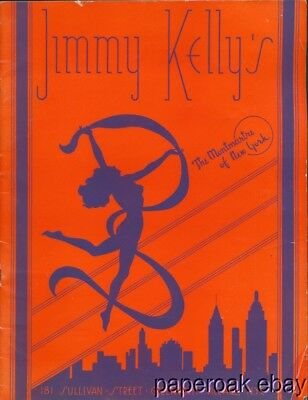 1930's Program For Jimmy Kelley's Montmarte Of New York Nightclub Review