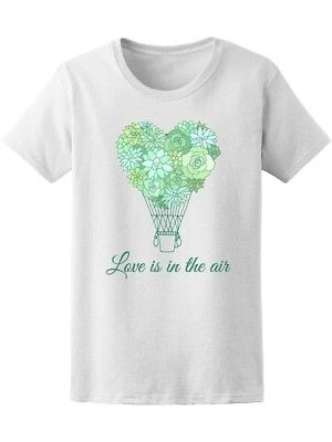 Hot Air Balloon Heart Succulents Women's Tee -Image by Shutterstock