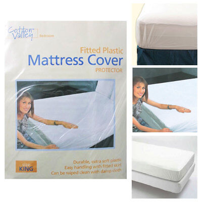 12 Pc Lot King Size Fitted Mattress Cover Vinyl Waterproof Bug Allergy Protector