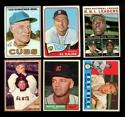 1953-1967 Topps Baseball Vintage Lot Of 71 Different *103238